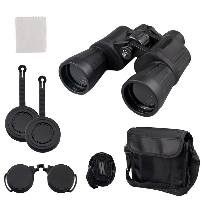 Купить с кэшбэком High Clarity Telescope 10x50 Binoculars Hd 3000M High Power For Outdoor Hunting Travel Birdwatching Optical binocular Fixed Zoom