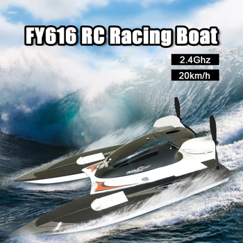 RC Boat 2.4GHz 35km/h High Speed RC Racing Boat Velocity Remote Control Boat Toy for Kids and Adults Child Gifts Outdoor Toys