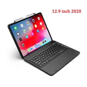 Image 3 - Ipadのプロ 12.9 11 2020 ケースとキーボード 7 色バックライト回転bluetoothキーボードタブレットipadプロ 12 9 キーボードケース