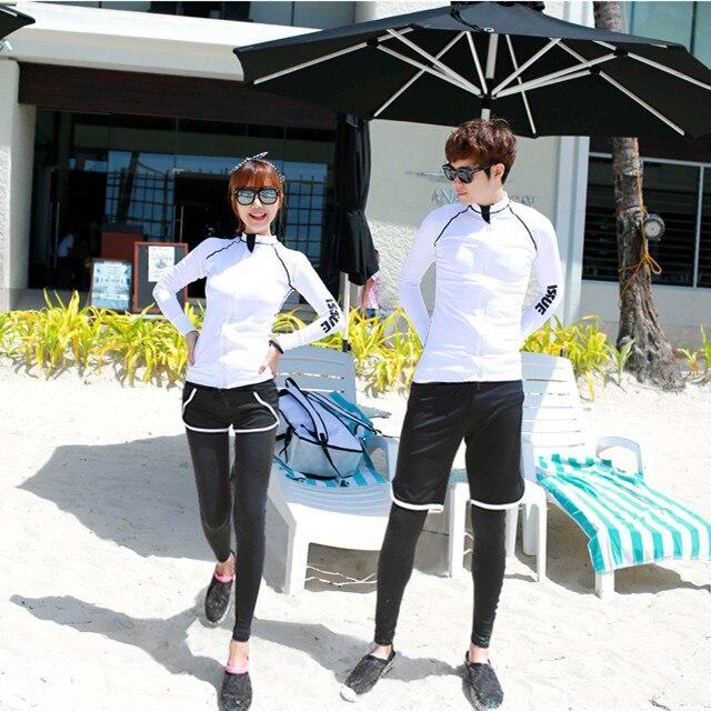 Diving Suit Women's Split Type South Korea Couples Set Surfing Sun-resistant Swimming Suit Long Sleeve Shorts Snorkeling Suit Me