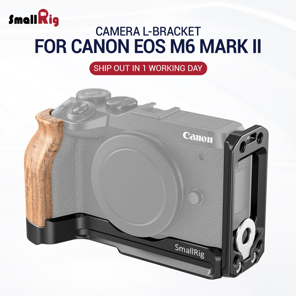 SmallRig Camera L-Bracket For Canon EOS M6 Mark II L Plate With Arca Style Plate For Quick Release 2516