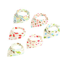 Baby Bibs Boy Girl Bandana Water Absorb Bib Burp Cloth Triangle Cotton Scarf Christmas Accessories 2019