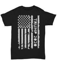 Мужская футболка с изображением флага США Трампа 2020 Дональда