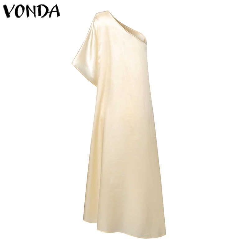 VONDA 2020 letnia tunika kobiety Sexy Off jedno ramię koszule imprezowe wakacyjne topy Plus rozmiar elegancki czeski Blusas Femininas