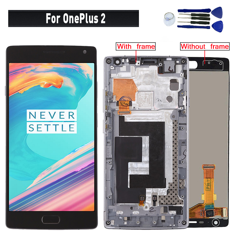 For Oneplus2 A2001 A2003 A2005 LCD Display Touch <font><b>Screen</b></font> Digitizer Assembly <font><b>Replacement</b></font> Pantalla For <font><b>Oneplus</b></font> <font><b>2</b></font> Display image