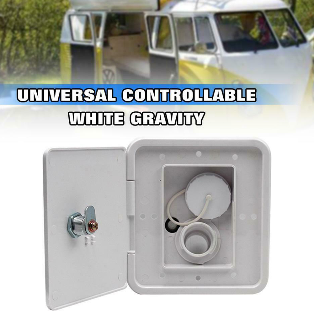 Gravity Inlet Threaded Accessories Square With Keys Screws Hatch Cover Water Intake Lockable RV Trailer Caravan Plastic Parts(China)
