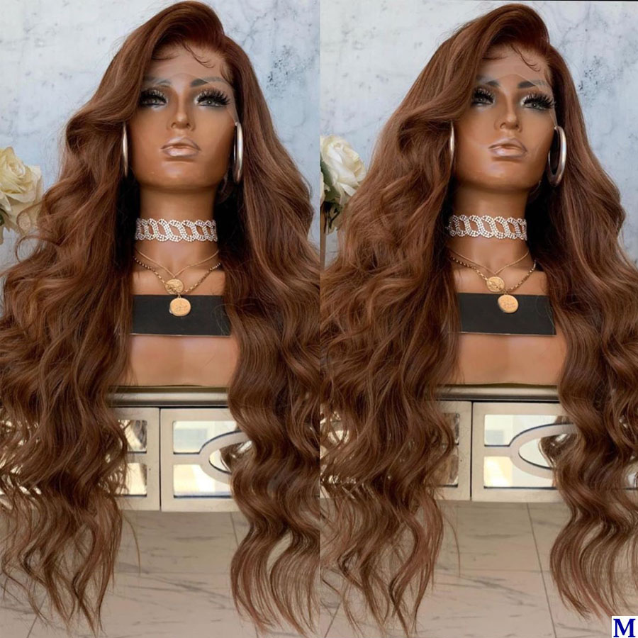Peruvian Chestnut Brown 360 Lace Frontal Human Hair Wigs With Baby Hair Glueless Silk Top Full Lace Wigs For Black Women
