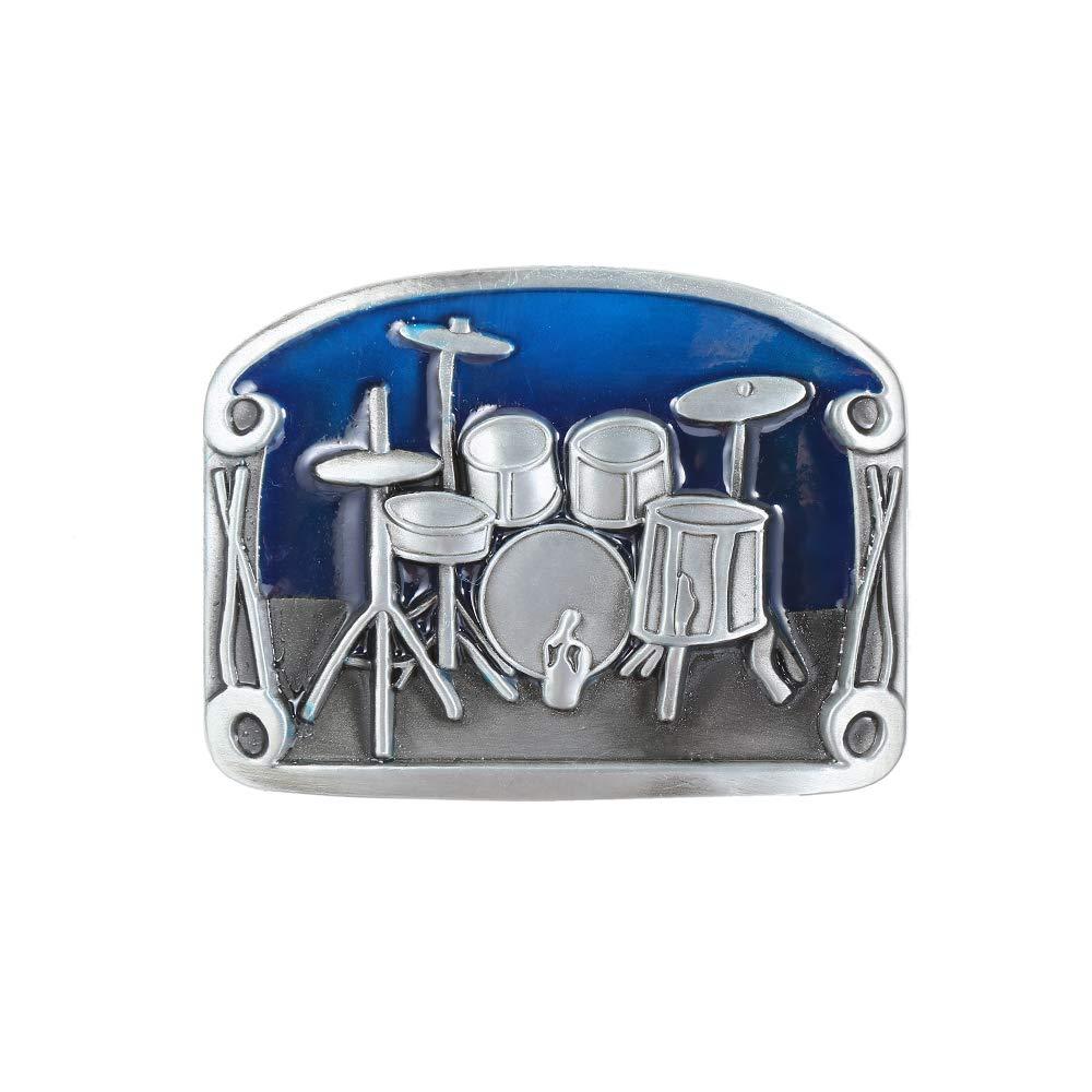 Blue Rocket Music Belt  Buckle For Man Western Cowboy Buckle Without Belt Custom Alloy Width 4cm