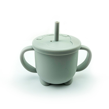 Green Silicone Feeding Cup