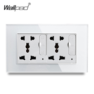 Image 2 - Wallpad S6 Glass Panel Double 5 Pin Universal Socket with 3.1A 2 x USB Charging Ports,  EU UK US Wall Power Outlet MF Socket