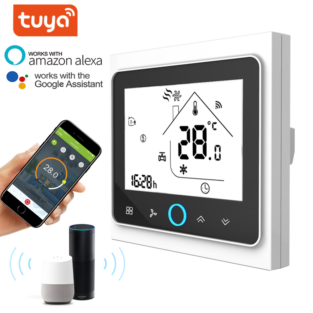 WiFi Smart Thermostat 2p/4p Central Air Conditioning Cooling/heating System For Room Temperature Controller Of Fan Coil Unit