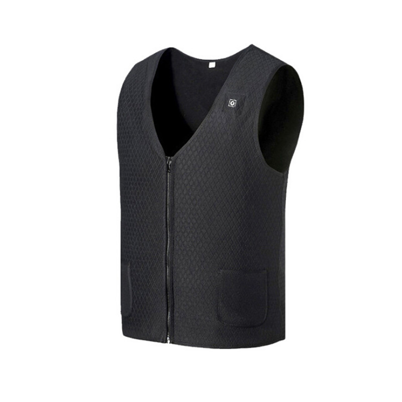 BUSB Infrared Heating Men Women Outdoor Winter Jacket Waistcoat Clothes Electric Thermal Flexible Vest For Sports Outdoor Items