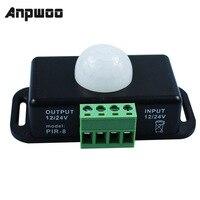 120 Degrees Automatic DC 12V 24V 8A Infrared PIR Motion Sensor Switch for LED Light 5 ~ 8 M Infrared Motion Sensor Detector