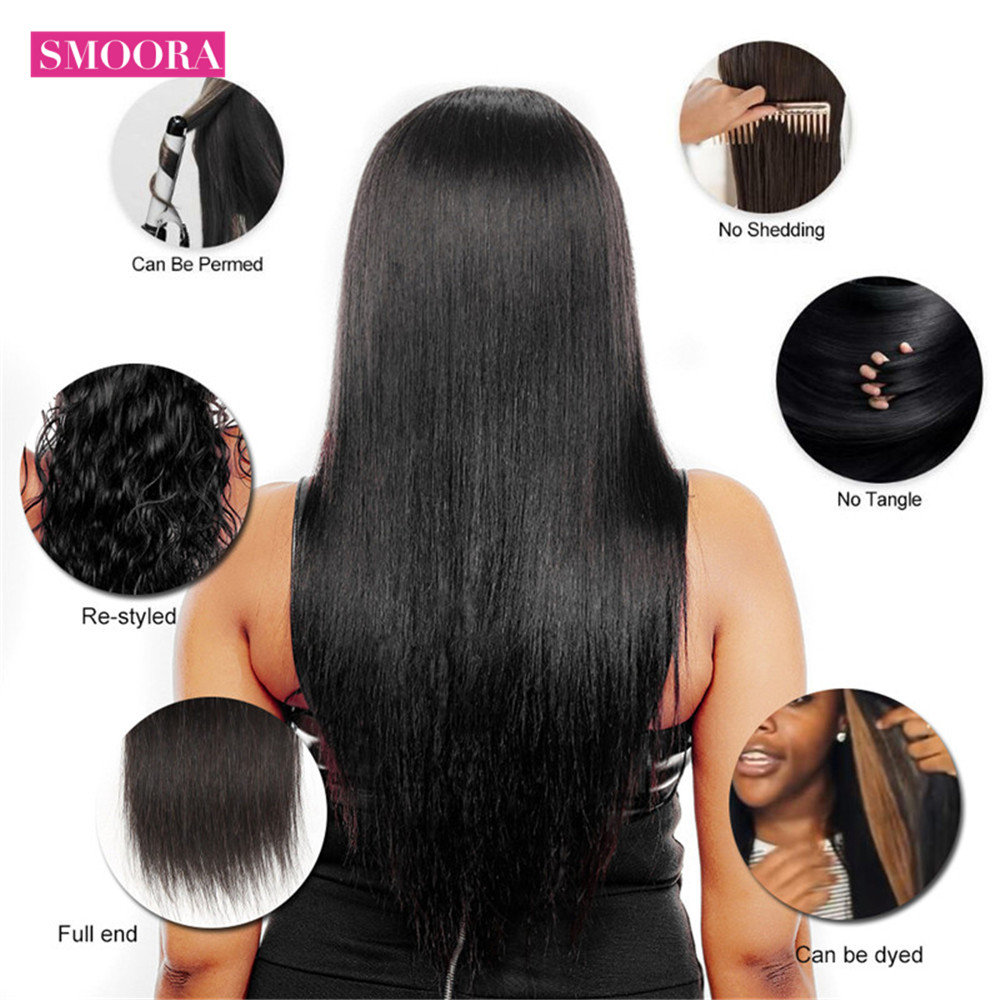 HCDIVA-Brazilian-Hair-Straight-3-Bundles-With-Closure-Middle-Part-4-pcs-Lot-Human-Hair-Bundles