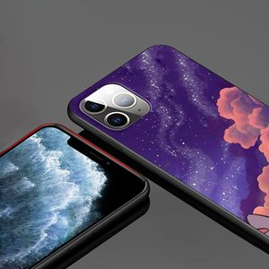 Image 2 - الكرتون لطيف غرزة ل أبل فون 12 11 برو ماكس البسيطة XS ماكس XR X 8 7 6 6S زائد 5S SE 2020 لينة أسود الهاتف حالة