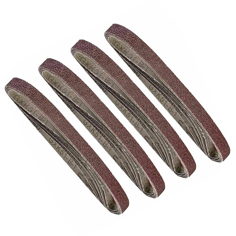 20PCS 13mmx457mm Sanding Sander Belts 40 60 80 100 120 Grit Polishing Belt