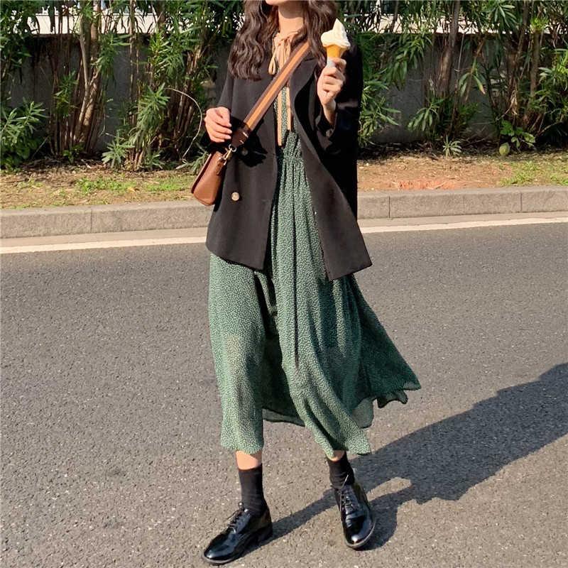 Mozuleva Vintage Lace Up Stip Vrouwen Groene Jurk Lente Elastische Taille Vrouwelijke Lange Jurk 2020 Zomer A-lijn Vestidos Femme