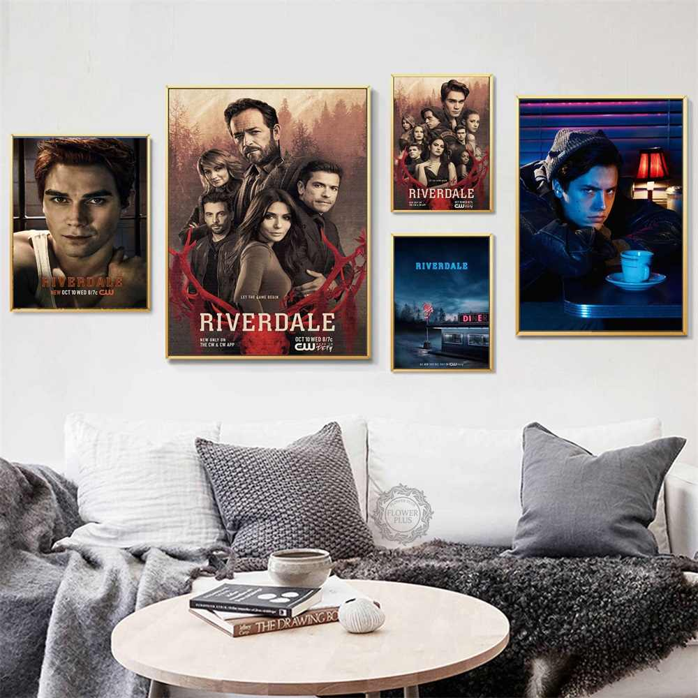 Top-Rated Canvas Print Riverdale Hot TV Series Show Modern Decorative Art Painting Silk Canvas Poster Wall Home Decor