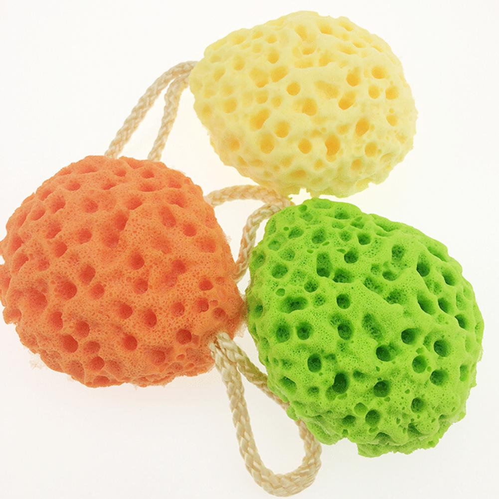 Honeycomb Baby Bath Sponge Natural Soft Shower Ball Exfoliating Soothing Body Cleaning Tool