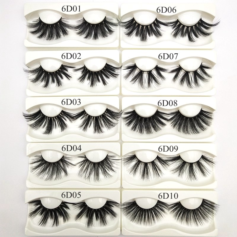Buzzme 30 Pairs Wholesale 6D faux mink lashes natural long high quality eyelashes silk eyelash - 6