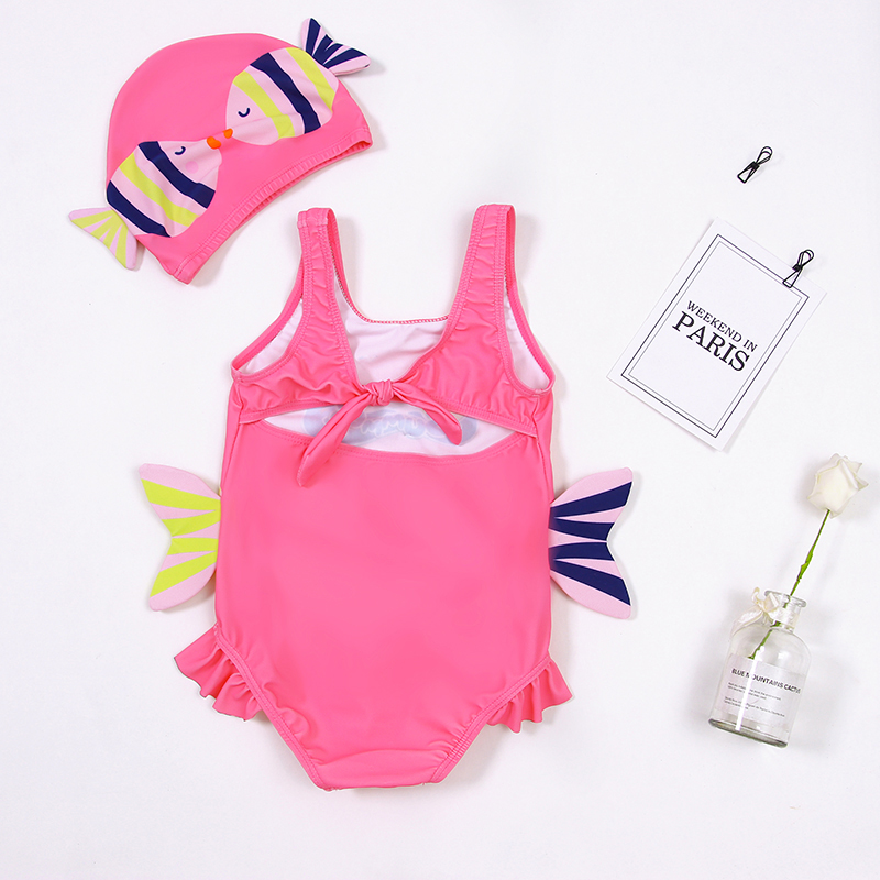 2020 Toddler Kids Baby Girls Cartoon Bikini Beach Summer Swimsuit Swimwear Bathing Suit Monokini Maillot De Bain Femme 6M-4Y