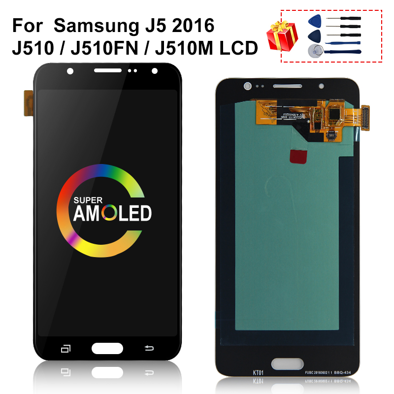 AMOLED For Samsung Galaxy J5 2016 J510 LCD <font><b>J510FN</b></font> J510M J510Y J510G Touch Screen Digitizer <font><b>Display</b></font> Replacement Parts image