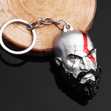 God Of War 4 Kratos Mask Keychain Kratos Axe Weapon Metal Key chain For Keys Men Car Women Bag Accessories game god of war keychain olympus kratos metal key rings blades of chaos kids gift chaveiro key chain jewelry ys10927