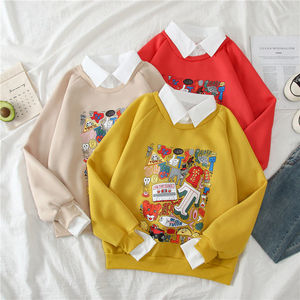 kawaii harajuku oversize hoodies winter clothes streetwear women korean style long sleeve clothes women Casual Pullovers tops