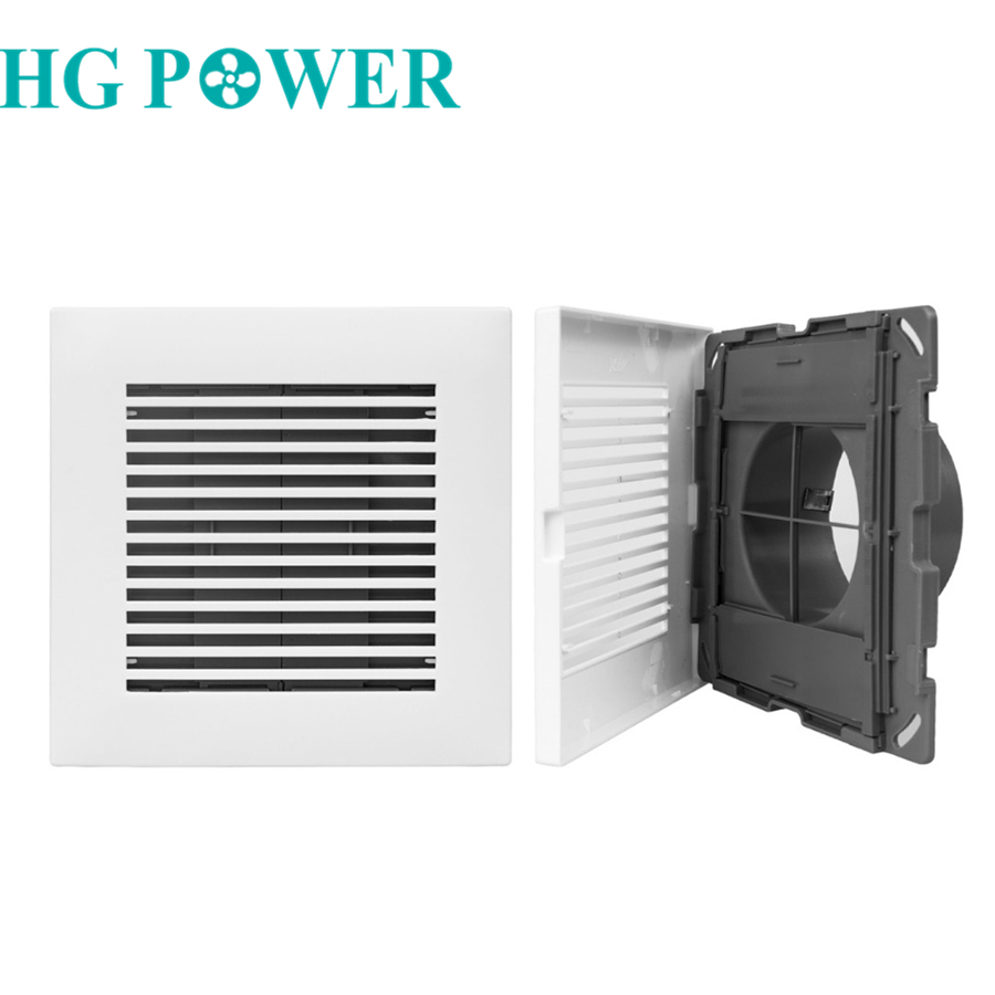 Plastic Square Air Vent Ventilator Duct Grill Grille Undereaver Louvers Wall Air Vent Extractor Fan Outlet House Ventilation