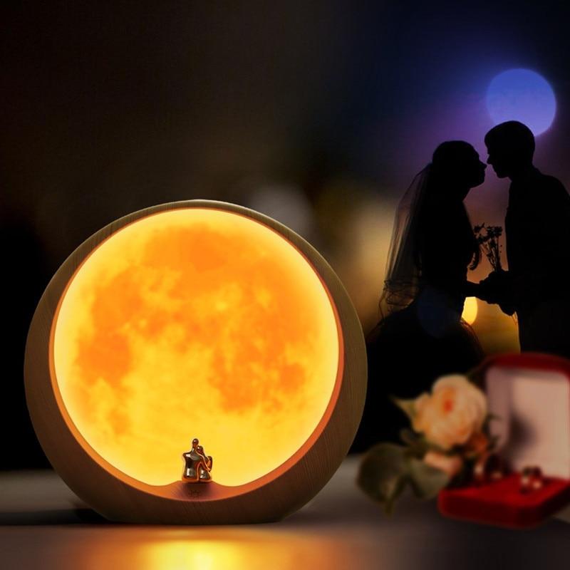 Moon Ambient Light DIY Anniversary Wedding Valentines Day Gift Ideas Art Decor Love Beneath The Red Moon