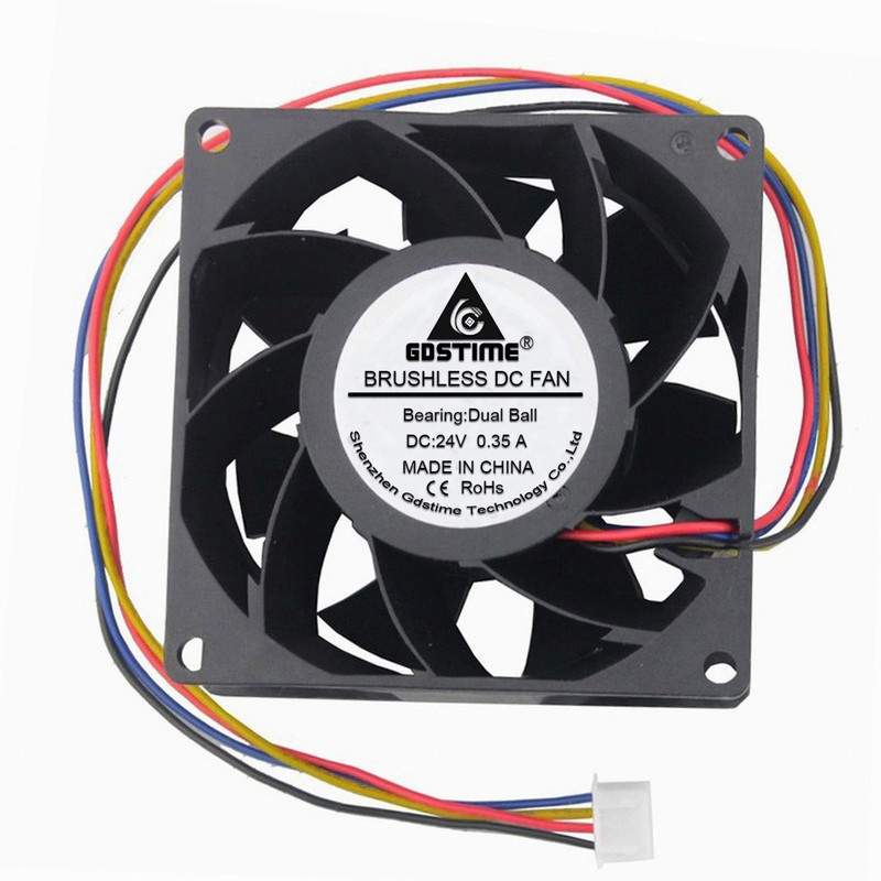 DC 12V 24V XH2.54-4PIN PWM FG 8038 8cm  80mm 80*80*38mm dual ball bearing Brushless Cooling Fan