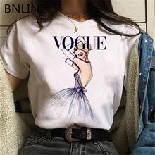 Модная женская футболка принцессы kawaii harajuku Милая ullzang