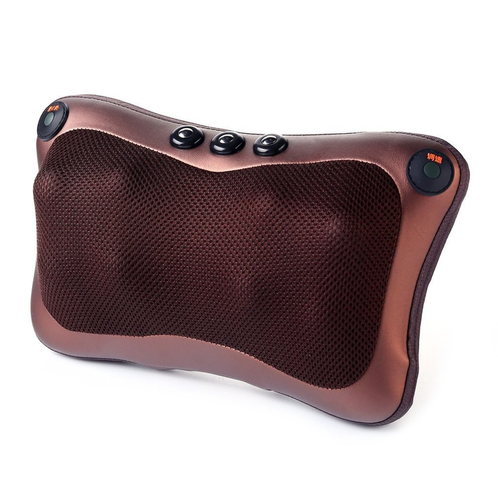 8 Heads Comfortable Magnetic Therapy Electronic Neck Massager Shoulder Back Waist Massage Pillow Cushion Best Gift