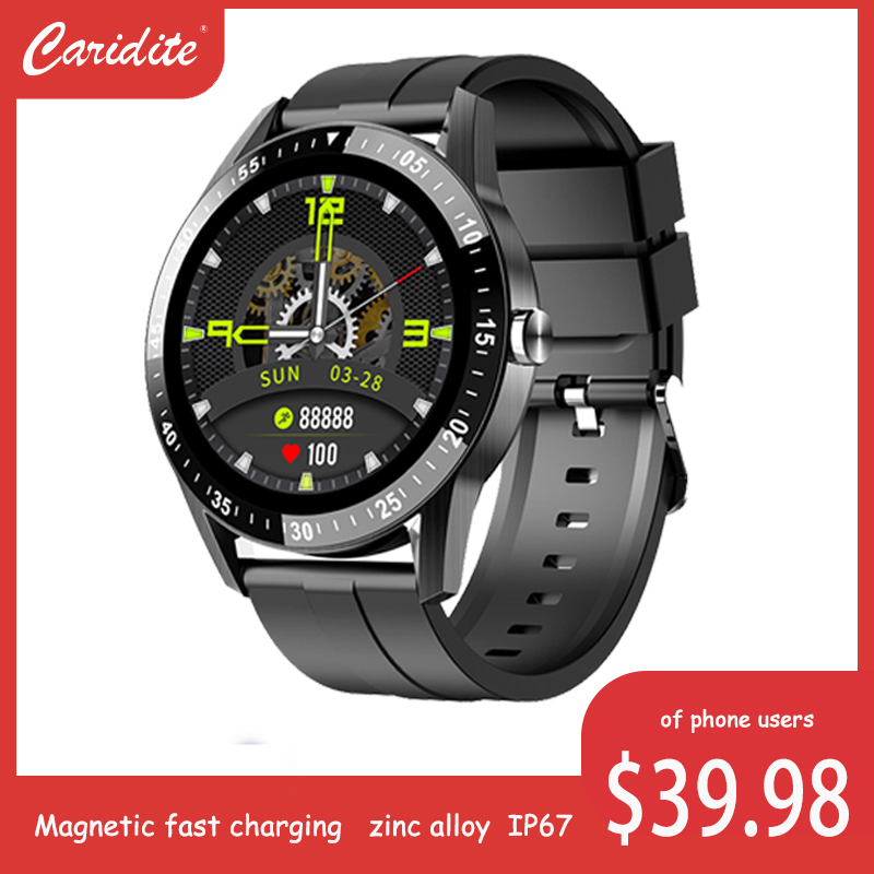 Permalink to caridite stylish smart wrists watch with Wireless charging bt phone call Music playing function metallic hairline body SH06