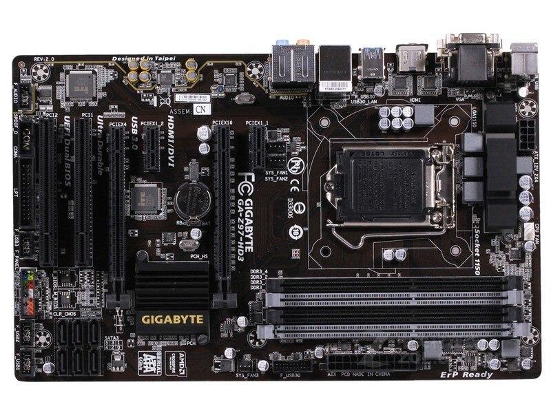 Used Gigabyte GA-Z97-HD3 100% Original Motherboard LGA1150 DDR3 USB3.0 32G Z97 Z97-HD3 Desktop Mainboard SATA III Mother Board