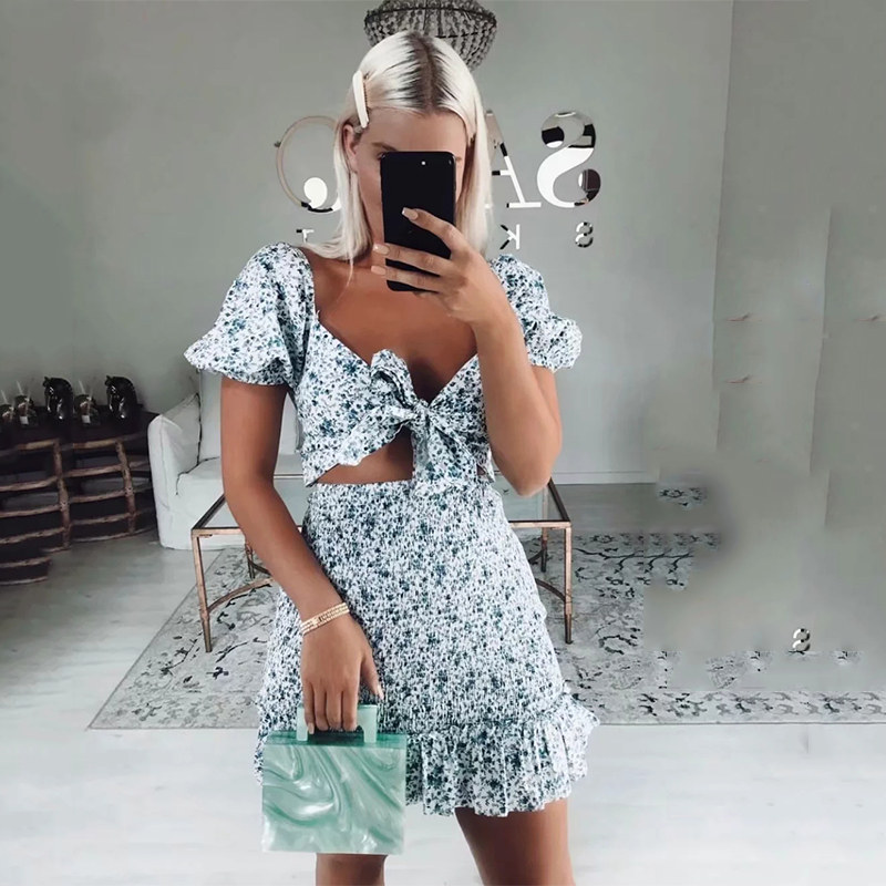 <font><b>Sexy</b></font> <font><b>v</b></font> neck <font><b>beach</b></font> summer <font><b>dress</b></font> women 2020 <font><b>boho</b></font> <font><b>floral</b></font> <font><b>print</b></font> <font><b>short</b></font> <font><b>dress</b></font> bowknot bodycon ruffle blure <font><b>dress</b></font> lace up mini <font><b>dress</b></font> image