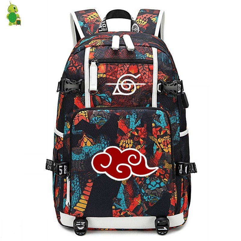 Anime Naruto Backpack Laptop Backpack School Bags For Teenage Girl Boy Large Capacity Travel Shoulder Bags Casual Rucksack