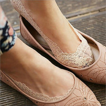 Short-Sock Summer Ankle-Socks Socks-Style Flower Lace Antiskid Invisible Girls 1-Pair