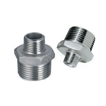 цена на 2x1-1/2 Male Threaded Hex Nipple Reducer Male x Male Pipe Fittings Stainless Steel SS304