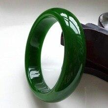 Браслет из натурального зеленого нефрита, модный браслет, ювелирные украшения, аксессуары ручной работы, амулет, подарки для женщин и мужчин