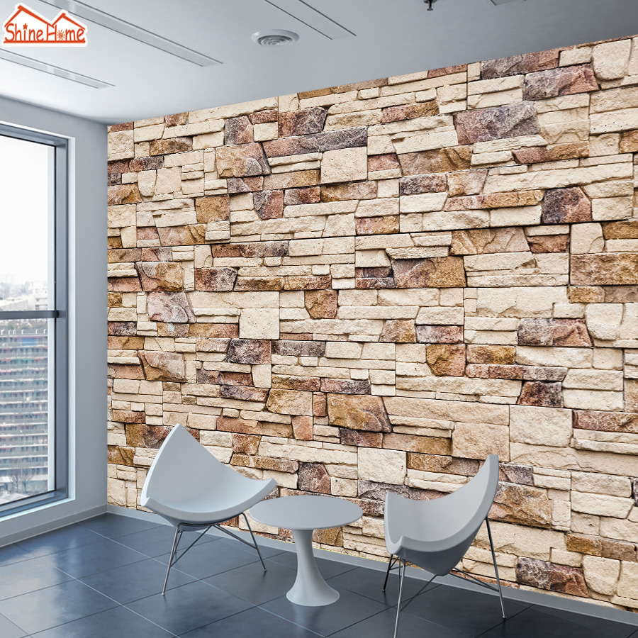 Modern Brick 3d Wallpaper Mural Wallpapers For Living Room Self Adhesive Walls Murals Rolls Cafe Wall Paper Papers Home Decor