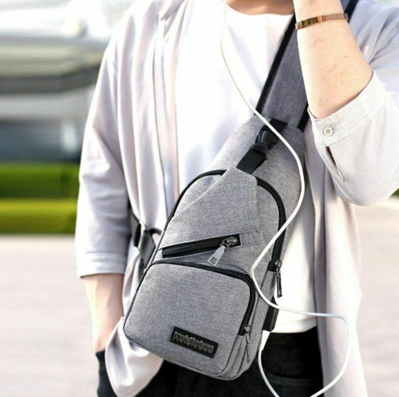 Men Women Nylon Waist Packs Sling Bag Crossbody Outdoor Sport Shoulder Chest Cycle Daily Travel Picnic Canvas Messenger Pack