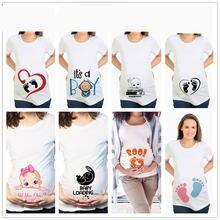 Новая летняя футболка для беременных с коротким рукавом большого