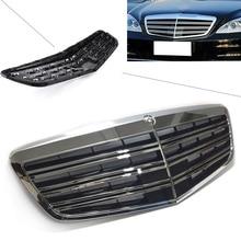 Передняя решетка автомобиля AMG Стиль верхний гриль для Mercedes-Benz S-Class W221 S350 S400 S450 S500 S550 S600 2007 08 09, 10, 11, 12, 2013