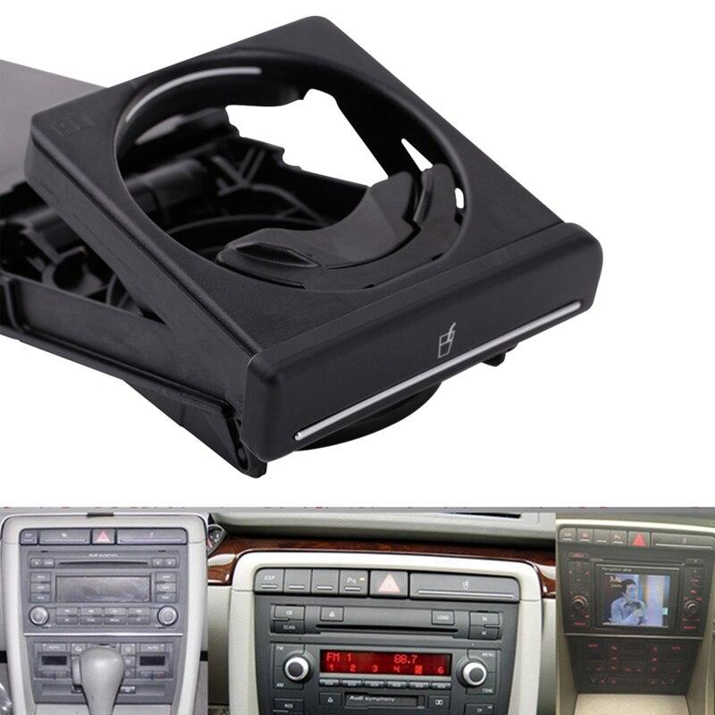New Black Front Car Cup Holder Sliding For V W Audi A4/B6/B7 2002-2008 8E1862534K