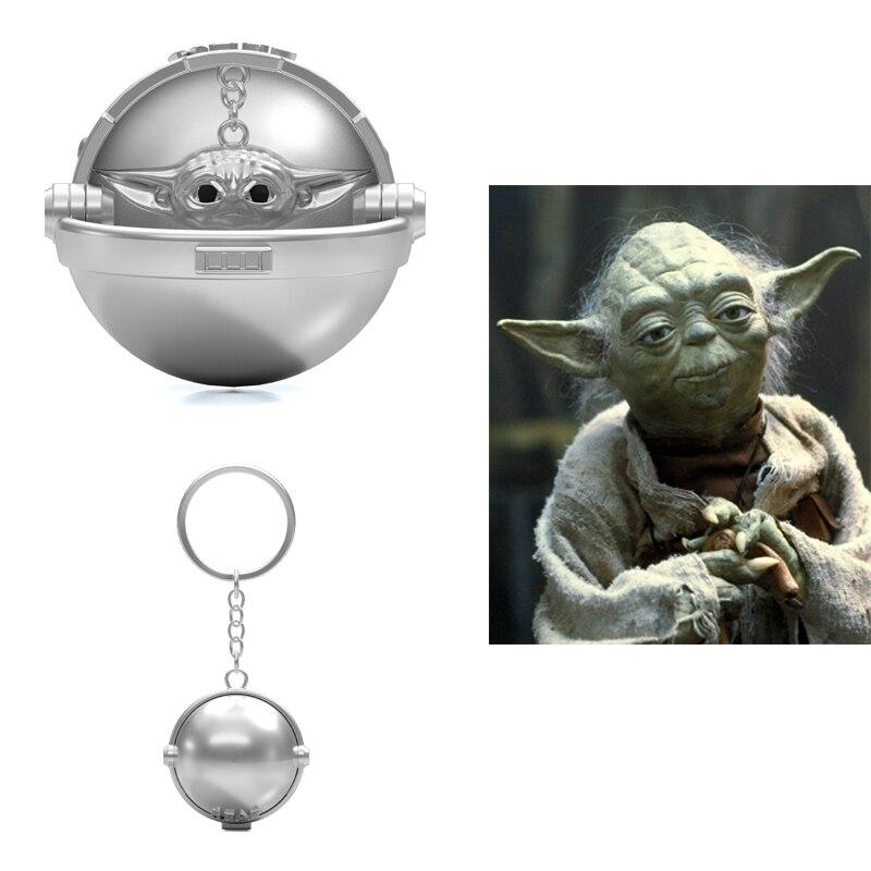 Baby Yoda Keychain The Mandalorian Cosplay Star Wars Prop Hanging Chain Xcoser