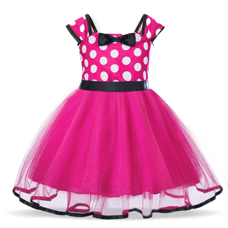 Baby Birthday Dress Girls Christmas Dress Baby Girl New Year Dress Up Clothes Birthday Party Polka Dots Casual Wear Vestidos 7