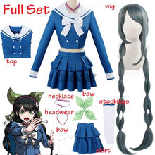 Anime Danganronpa V3 tuer harmonie Tenko Chabashira Cosplay Costume femmes bleu école uniforme tenue robe marin Costume
