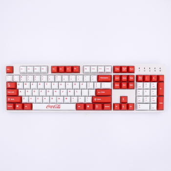 MP Dye-Sublimated Coca Cola keycap 87/108 Keys Thick PBT keycaps  MX Switch Cherry/NOPPOO/Flick Mechanical Keyboard Keycap цена 2017