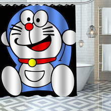 Shower-Curtain Hooks Polyester-Fabric Doraemon Bathroom Waterproof Custom with High-Quality